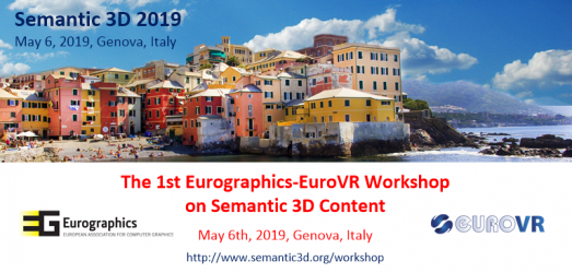 Semantic 3D 2019 Workshop at EuroGraphics 2019