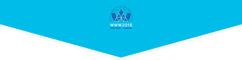 WWW 2016 Conference, Montreal Canada