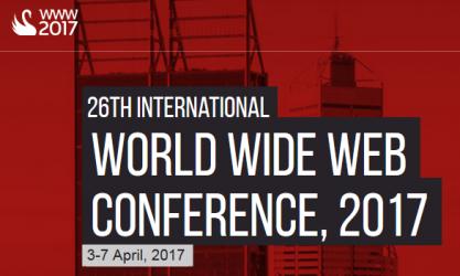 WWW 2017 Conference, Perth Australia