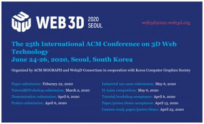 Web3D 2020 Conference, Seoul Korea | Web3D Consortium