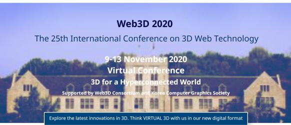 Web3D 2020 Virtual Conference