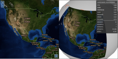 GeoWebMap innovation with X3D and OpenLayers