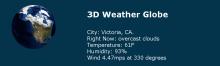3D Weather Globe